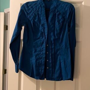 Express button down - dark teal dress shirt
